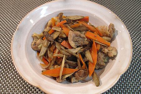 鶏肉とごぼうの甘辛煮