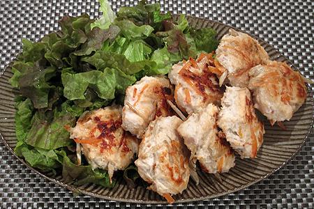 鶏ひき肉とごぼうのつくねあげ