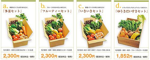 ビオマルシェの宅配野菜セット