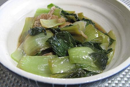 チンゲン菜の煮浸し