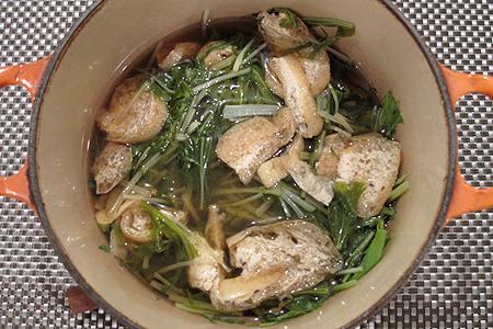 水菜のさっと煮